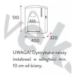 Dystrybutor wody DWM nablatowy kolor biały