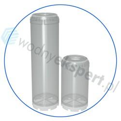 Puste przezroczyste obudowy przeznaczone do wypełnienia dowolnym złożem - Aquafilter