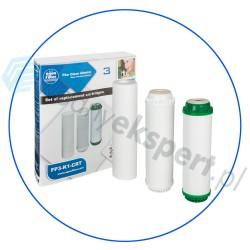 Komplet trzech wkładów do systemów z serii FP3 Aquafilter FP3-K1-CRT