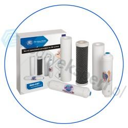 Komplet pięciu wkładów do systemów Odwróconej Osmozy RO6 Aquafilter RO6-CRT