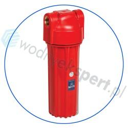 Korpus narurowy 10'' do wody gorącej z odpowietrznikiem - Aquafilter - seria FHHOTx-HPR